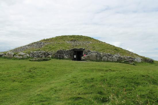 Loughcrew Megalithic Cairns: View of entrance to passage tomb