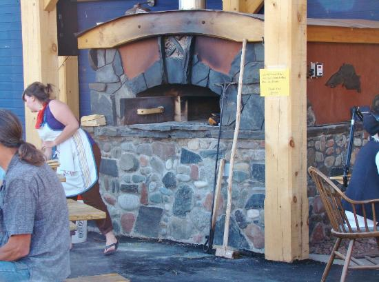 North House Folk School: The new brick oven, outside one of the classroom and store building