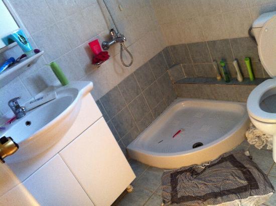 Sellas Hotel: towel on floor as always floods