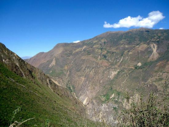 Choquequirao: View of the entire hike, look closely and zoom in...