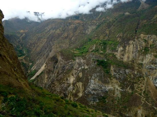 Choquequirao: First/third day hike from river to Chiquisca (about halfway up the pic)