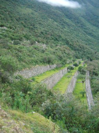 Choquequirao: first terraces in the main city