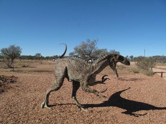 Australian Age of Dinosaurs: guarding the entrance