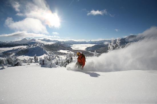 Banff, Kanada: Snowboarding at Sunshine Village