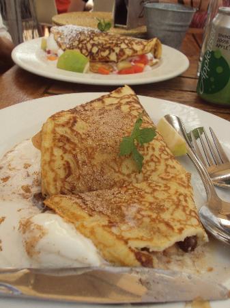 Graskop, South Africa: pancakes en Harrie's