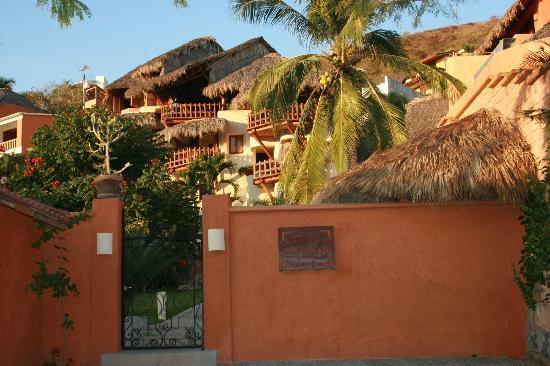 La Villa lower gated entrance