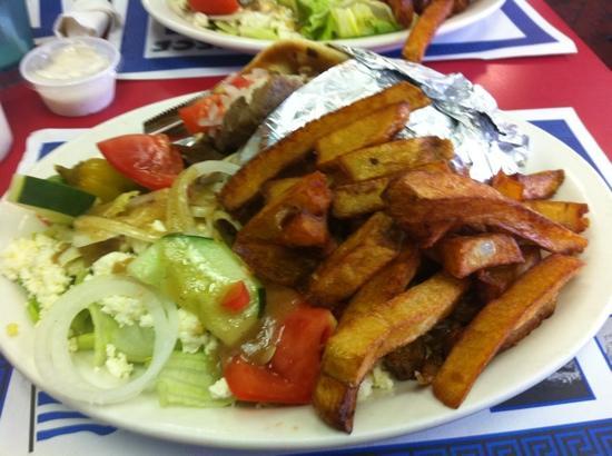 Jimmy's Greek American Grill : gyro platter