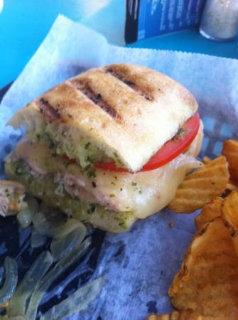 Sea Witch Cafe : turkey panini and homemade chips