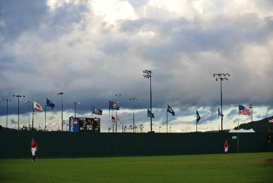 Cooperstown Dreams Park: An evening game.