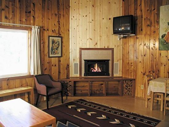 Fern River Resort Motel: Cabin 11B Living Area