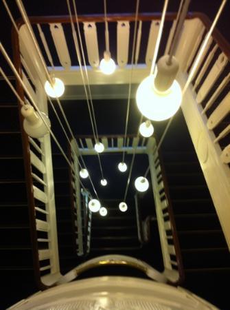 stairwell in Savoy Hotel