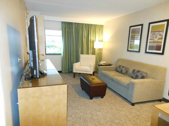 Hilton Auburn Hills Suites: The living room
