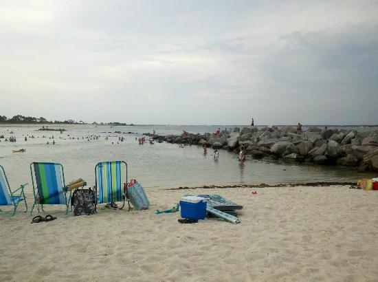 St. Andrews State Park: Reef around beach, great snorkeling and calm waters