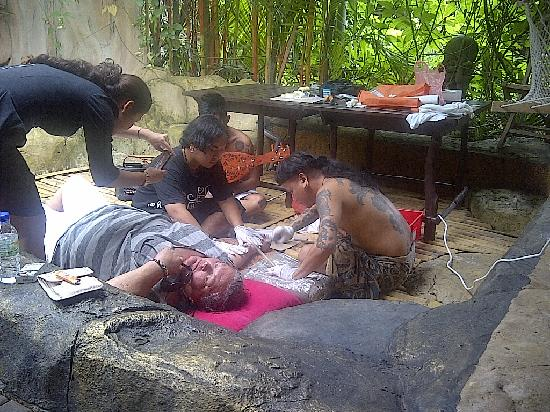 The Secret Sanctuary Boutique Cottage: Borneo traditional hand tapped-tattoo