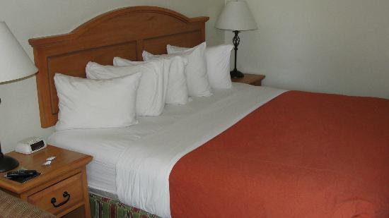 Cimarron Inn Klamath Falls: Lots of pillows and clean, comfortable bed