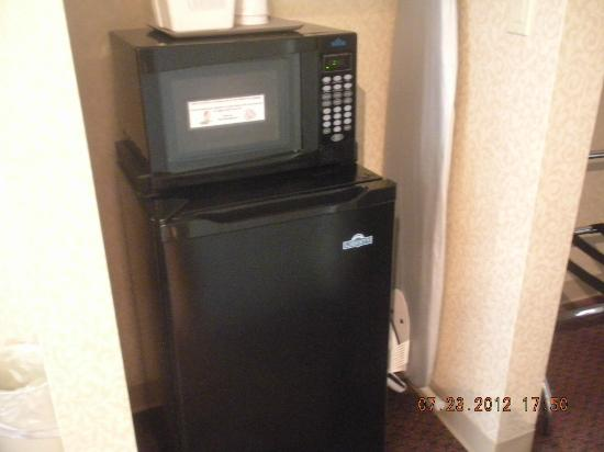 Quinault Sweet Grass Hotel: microwave and fridge-freezer