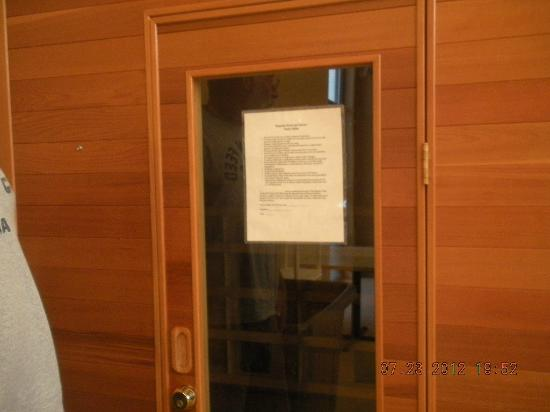 Quinault Sweet Grass Hotel: sauna