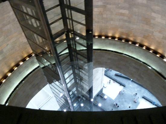 Monumento y Museo de la Revolucion: Desde la parte terminal del elevador.