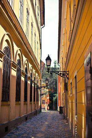 Buda Castle Fashion Hotel: Steegje naast het hotel