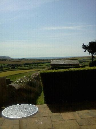 Wooldown Holiday Cottages: The stunning view from Pengenna Parlour patio!