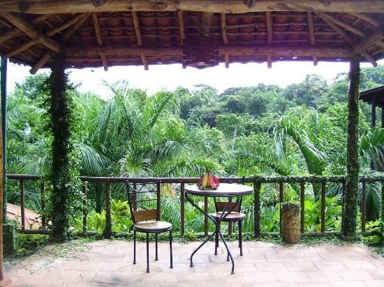 Hotel Selva Verde: Een van de terrasjes rond het zwembad