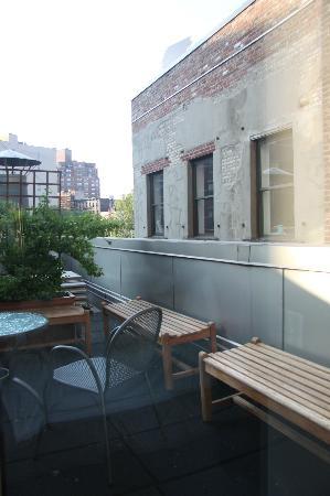 Gansevoort Meatpacking NYC : Our courtyard