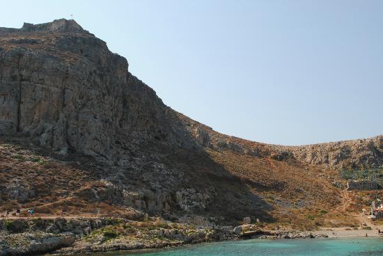 Balos Lagoon: La subida al castillo