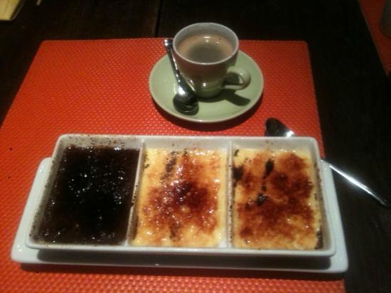 Temaki Sushi Bar : Trio of Creme Brulee