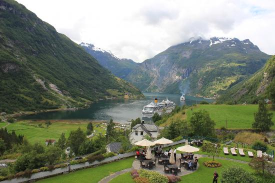 Hotel Union Geiranger: View from the Hotel room