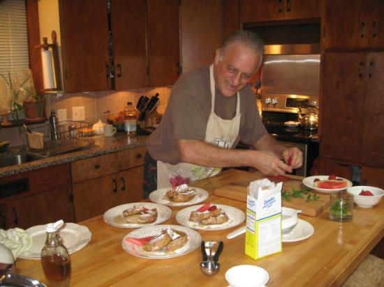 A Stone's Throw Bed and Breakfast: Tony, the chef, in his element :o)