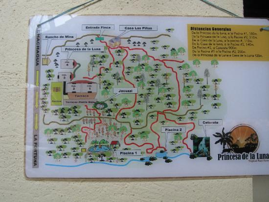 ‪‪Princesa de la Luna Eco Lodge‬: Map of the property‬