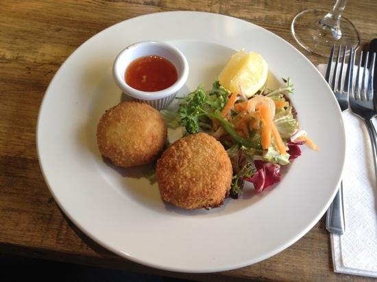 The Inn at Torbrex: salmon fish cakes