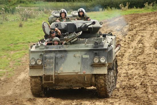 Lutterworth, UK: Tank Paintballing at Armourgeddon