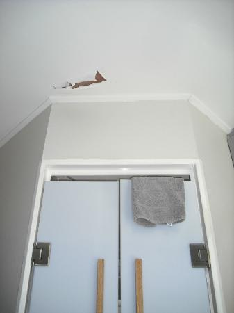 Canalview Hotel Ter Reien: Hole in the ceiling