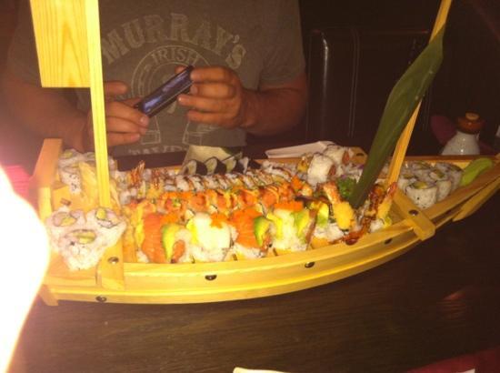 Minot, Dakota del Norte: sushi boat