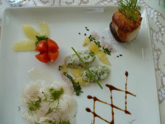 Hotel Du Centenaire: Yummy scallops!