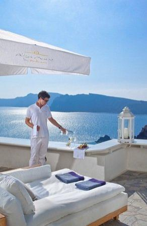 Andronis Luxury Suites: Terrace
