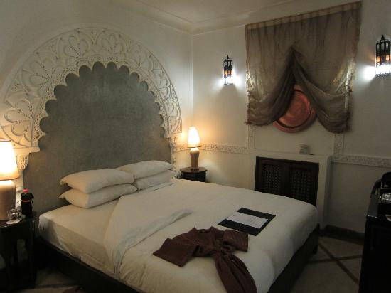 Angsana Riads Collection Morocco - Riad Bab Firdaus : The room - the bed's a bit hard for the Westerner but comfortable enough.