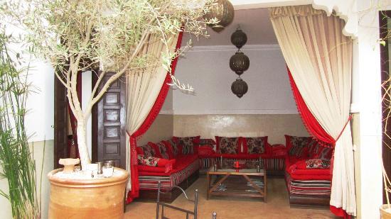 Riad Badi: salon de thé