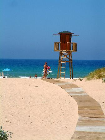 Playa de Bolonia: Eventually you come out of the Sea at Bolonia!