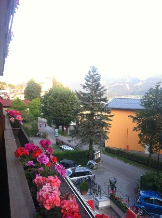 Hotel Furian am Wolfgangsee: view from our room 1st floor