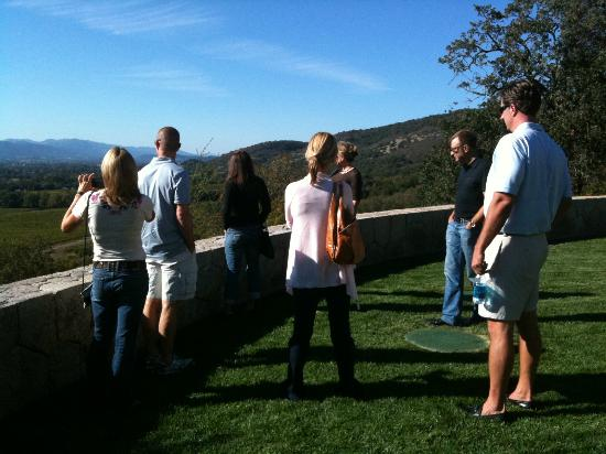 NV Tours Napa Limo Service : NV Tours' Clients enjoying the view