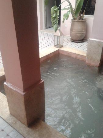 Riad Tahani: La piscina