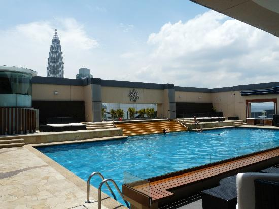 Rooftop pool picture of pacific regency hotel suites - Rooftop swimming pool kuala lumpur ...