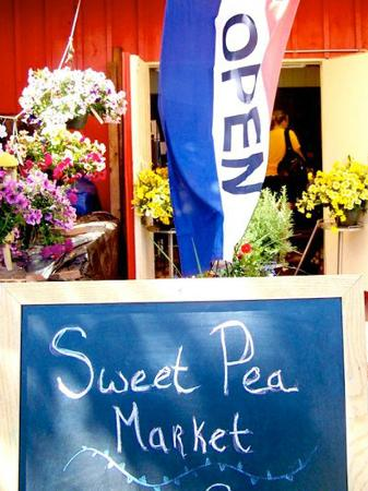 Sweet Pea Market and Restaurant: Our colorful entrance