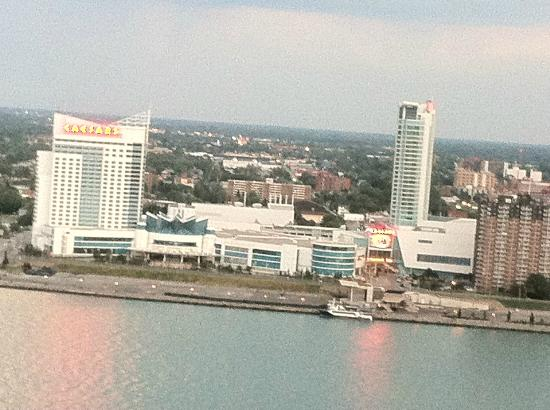 Detroit Marriott at the Renaissance Center: View of Windsor, Ontario, Canada from my room
