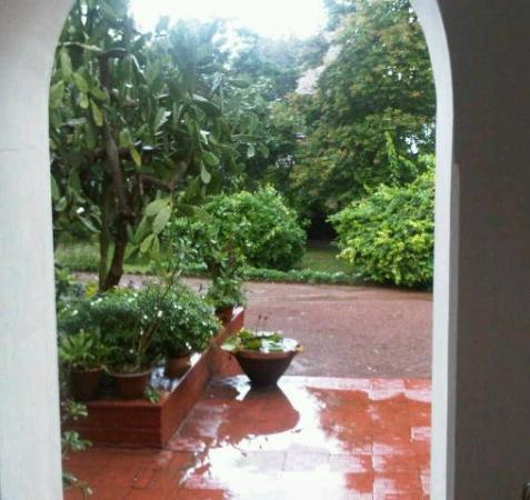 Mitali Homestays: Enjoying Monsoon showers from Mitali's veranda