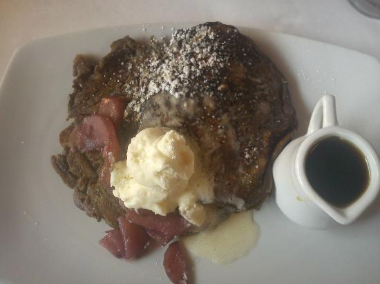 Hall Street Bar & Grill: Buckwheat Pancakes with Pears