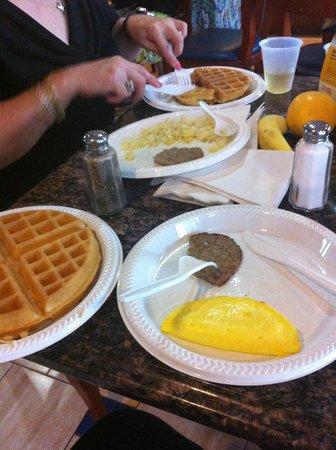 Marshall, MI:                   Our breakfast