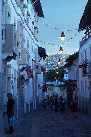 La Casona de la Ronda Heritage Boutique Hotel: Location of the hotel in historical central Quito